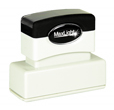 "Customizable 5/8"" x 2-7/16"" pre-inked rubber stamps for office or home use. Upload logos and typeset right on our website directrubberstamps.com. Volume discounts available with fast turnaround times!"