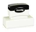 "Customizable 15/16"" x 2-13/16"" pre-inked rubber stamps for office or home use. Upload logos and typeset right on our website directrubberstamps.com. Volume discounts available with fast turnaround times!"