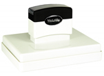 "Customizable 3-1/8"" x 4-1/2"" pre-inked rubber stamps for office or home use. Upload logos and typeset right on our website directrubberstamps.com. Volume discounts available with fast turnaround times!"