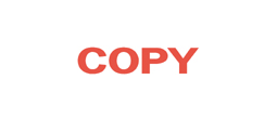 """Copy"" one-color pre-inked rubber title stamp for use in home or office settings. Volume discounts available with fast turnaround times!"