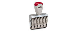 10-digit numbering rubber stamp, order right on our website directrubberstamps.com. Volume discounts available with fast turnaround times! Don't forget that these require a stamp pad.