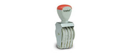 4-digit numbering rubber stamp, order right on our website directrubberstamps.com. Volume discounts available with fast turnaround times! Don't forget that these require a stamp pad.