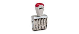 8-digit numbering rubber stamp, order right on our website directrubberstamps.com. Volume discounts available with fast turnaround times! Don't forget that these require a stamp pad.